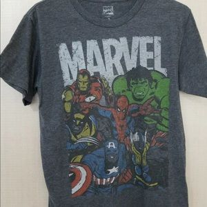 Marvel Comics Mens S T-Shirt Avengers Hulk IronMan